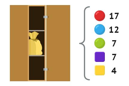 задача с шариками и кубиками в мешке