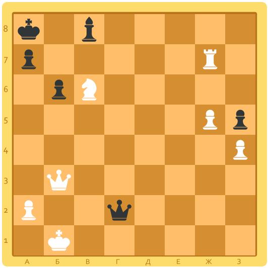 шахматная задача на постановку мата в 1 ход
