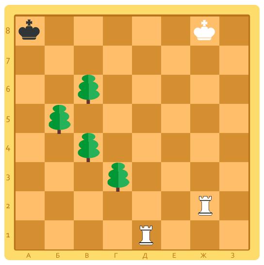 шахматная задача на постановку мата в 2 хода