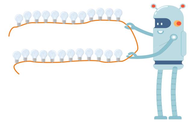 загадка на логику про гирлянду и лампочки