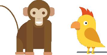 Сложная загадка на логику про обезьян и попугаев