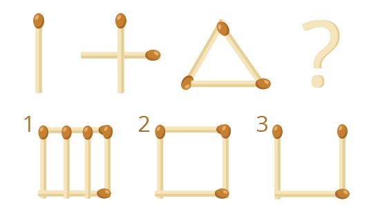 задача на поиск закономерностей - головоломка со спичками