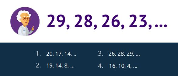 зображення до задачі продовж ряд чисел