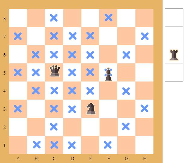 решение задачи на шахматном поле