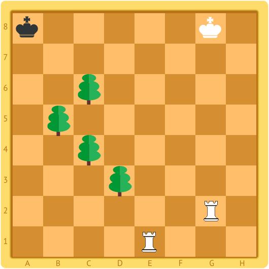 шахматная задача на мат в два хода
