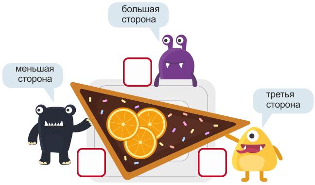 треугольный торт імонстрики