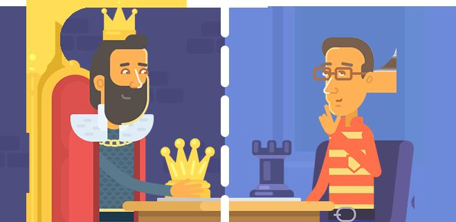 иллюстрация к статье ЛогикЛайк — средневековый король и современный папа увлечены решением головоломки