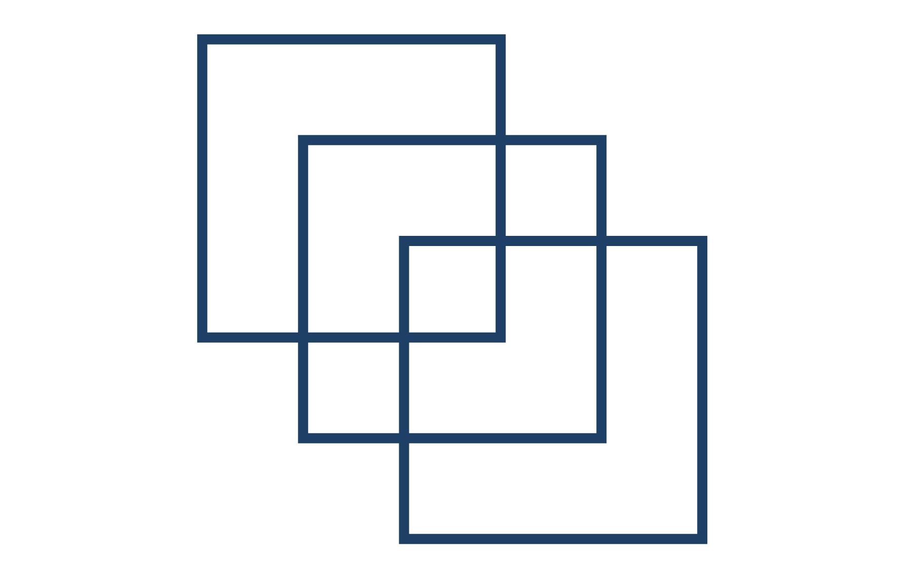 три пересекающихся квадрата — условия головоломки Льюиса Кэрролла