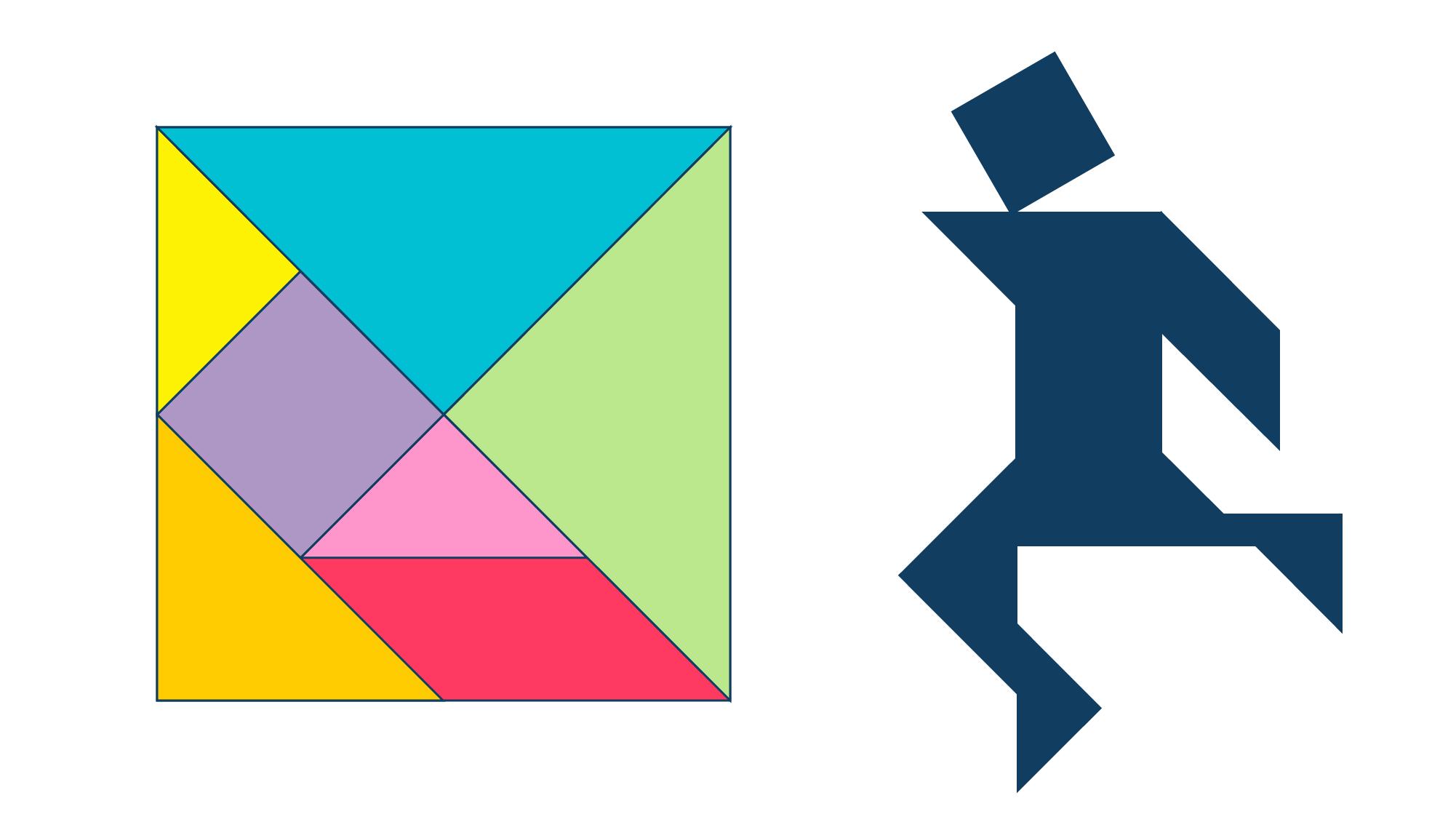 элементы танграма и силуэт — условие головоломки