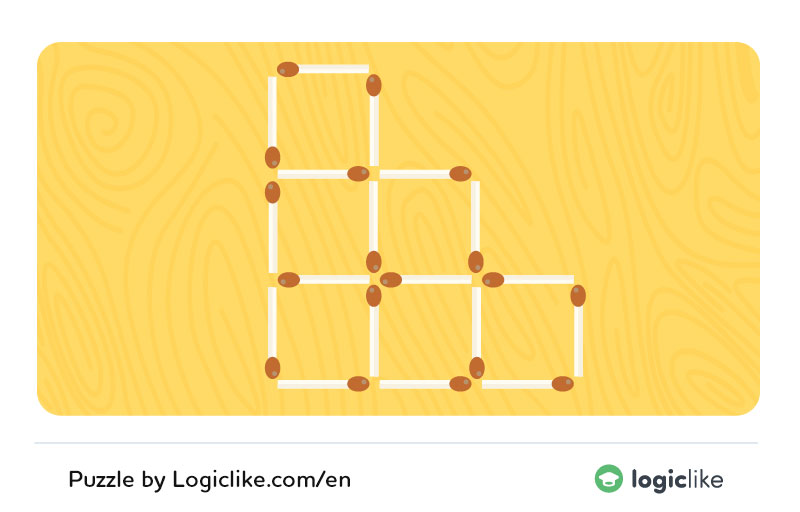 move 2 matches to make 4 squares