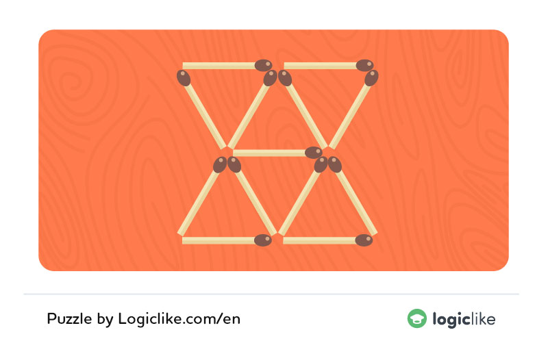 matchstick puzzles with triangles