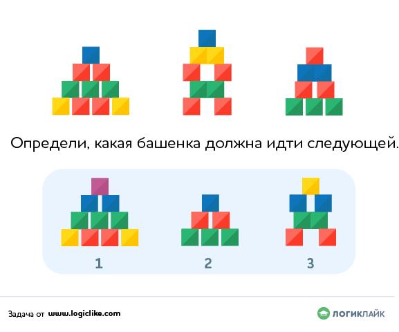 графическая закономерность с фигурами из кубиков