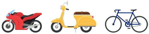 мотоцикл, мопед и велосипед - иллюстрация к задаче на правду и ложь