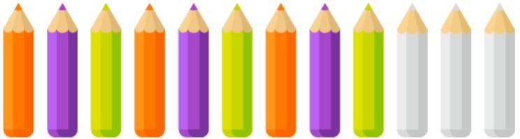 циклическая закономерность из карандашей