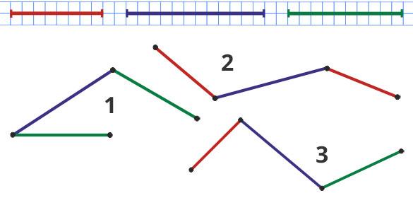геометрическая задача 3 ломаные линии