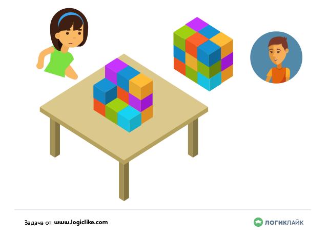 задачка с кубиками відЛогікЛайк