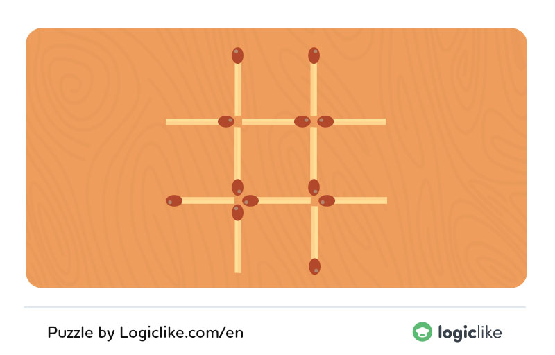 move 3 matches to make 3 squares